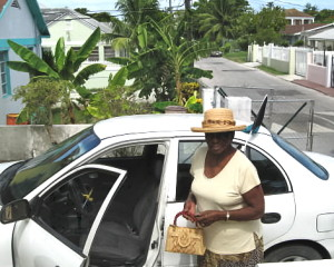Aunt Elva on her way to church