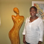 My sister Elise with Max Taylor sculpture