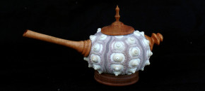 Sea Urchin teapot with wooden parts